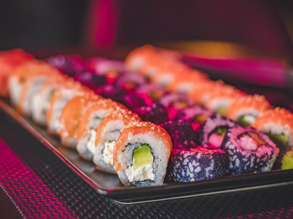 Tuna Girl + Rainbow Sushi Rolls   Home Theatre Menu